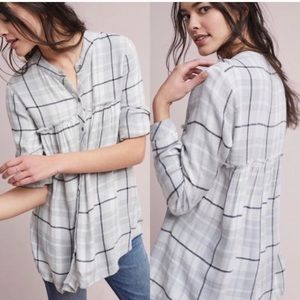Cloth and stone Anthropology flannel swing tunic S